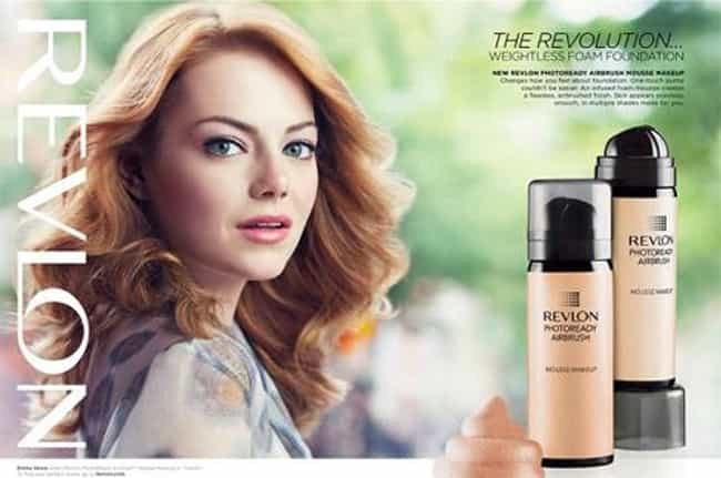 Emma Stone For Revlon is listed (or ranked) 4 on the list The Most Successful Celebrity Endorsements