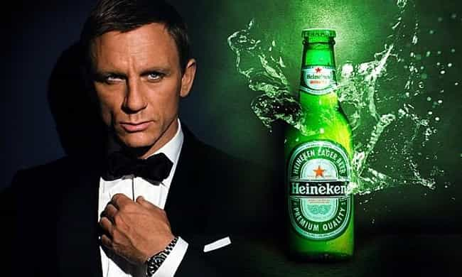 Daniel Craig As 007 For ... is listed (or ranked) 5 on the list The Most Successful Celebrity Endorsements