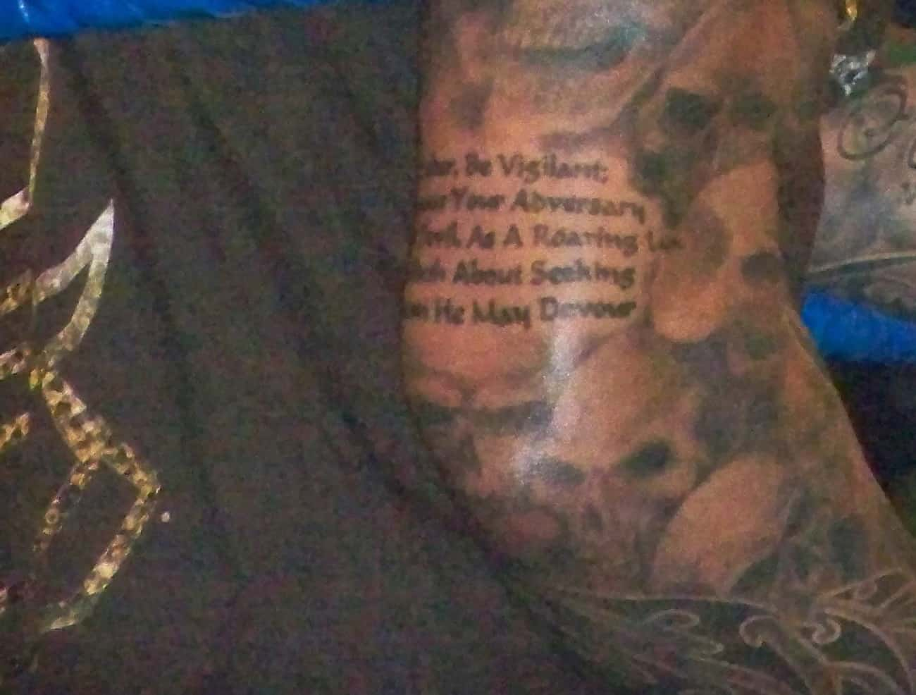 Bible Verse Tattoo is listed (or ranked) 4 on the list Randy Orton Tattoos