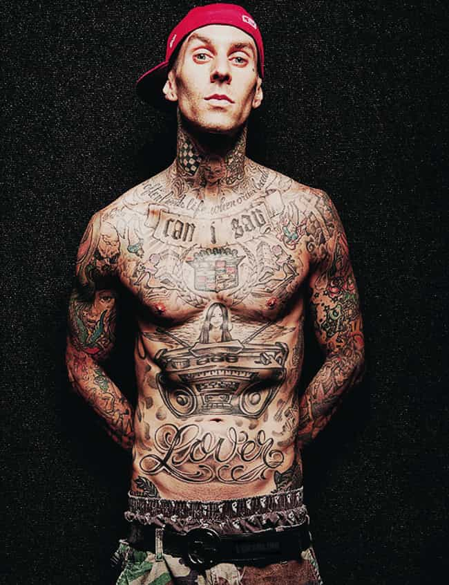 Boombox is listed (or ranked) 4 on the list Travis Barker Tattoos