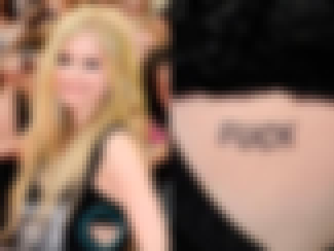 F*CK is listed (or ranked) 1 on the list Avril Lavigne Tattoos