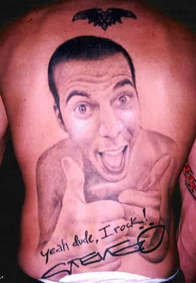 Lifelike Portrait Tattoo is listed (or ranked) 1 on the list Steve-O Tattoos