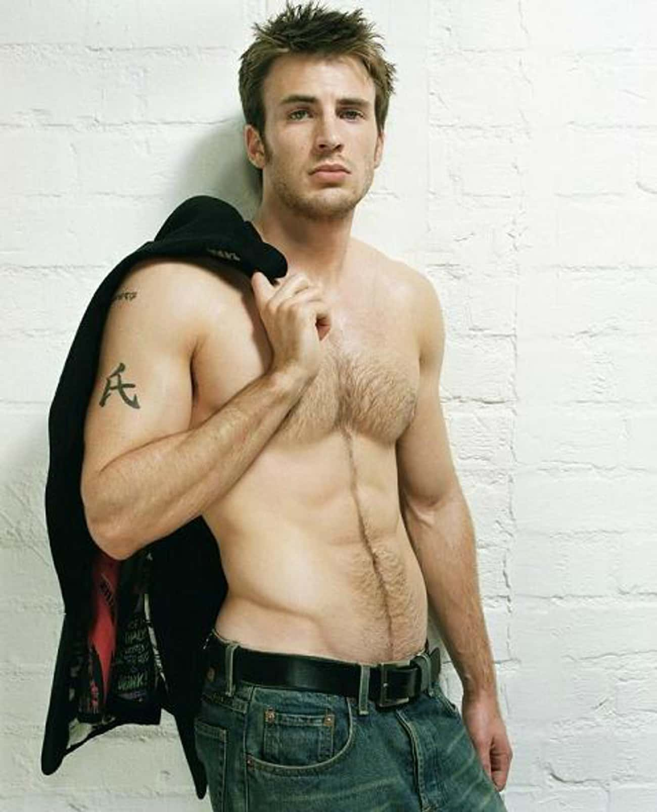Kanji Symbol for Family is listed (or ranked) 4 on the list Chris Evans Tattoos