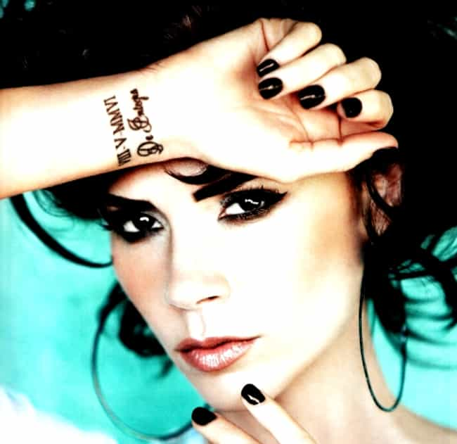 Roman Numerals is listed (or ranked) 3 on the list Victoria Beckham Tattoos