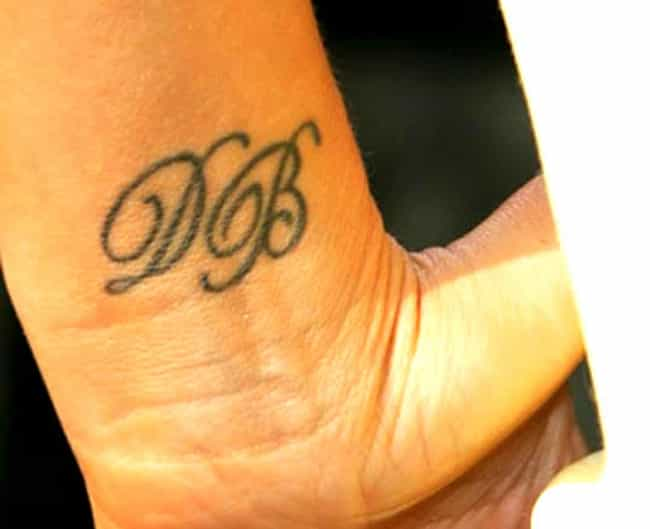 David Beckham's Initials... is listed (or ranked) 4 on the list Victoria Beckham Tattoos