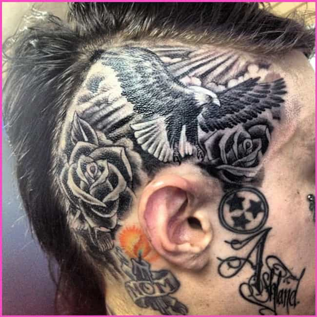 Eagle and Rose is listed (or ranked) 2 on the list Trace Cyrus Tattoos