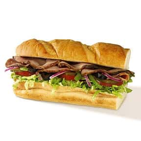 """Subway 6"""" Roast Beef is listed (or ranked) 21 on the list The Healthiest Fast Food Choices in America"""