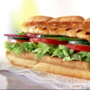 "Subway 6"" Over Roasted Ch is listed (or ranked) 2 on the list The Healthiest Fast Food Choices in America"
