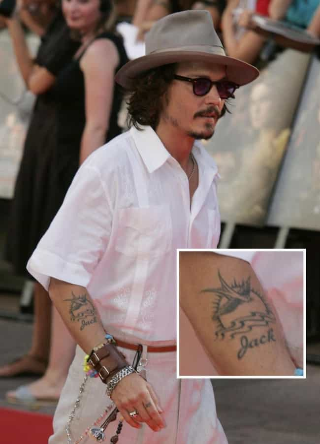 Johnny Depp Tattoos List Of Johnny Depp Tattoo Designs