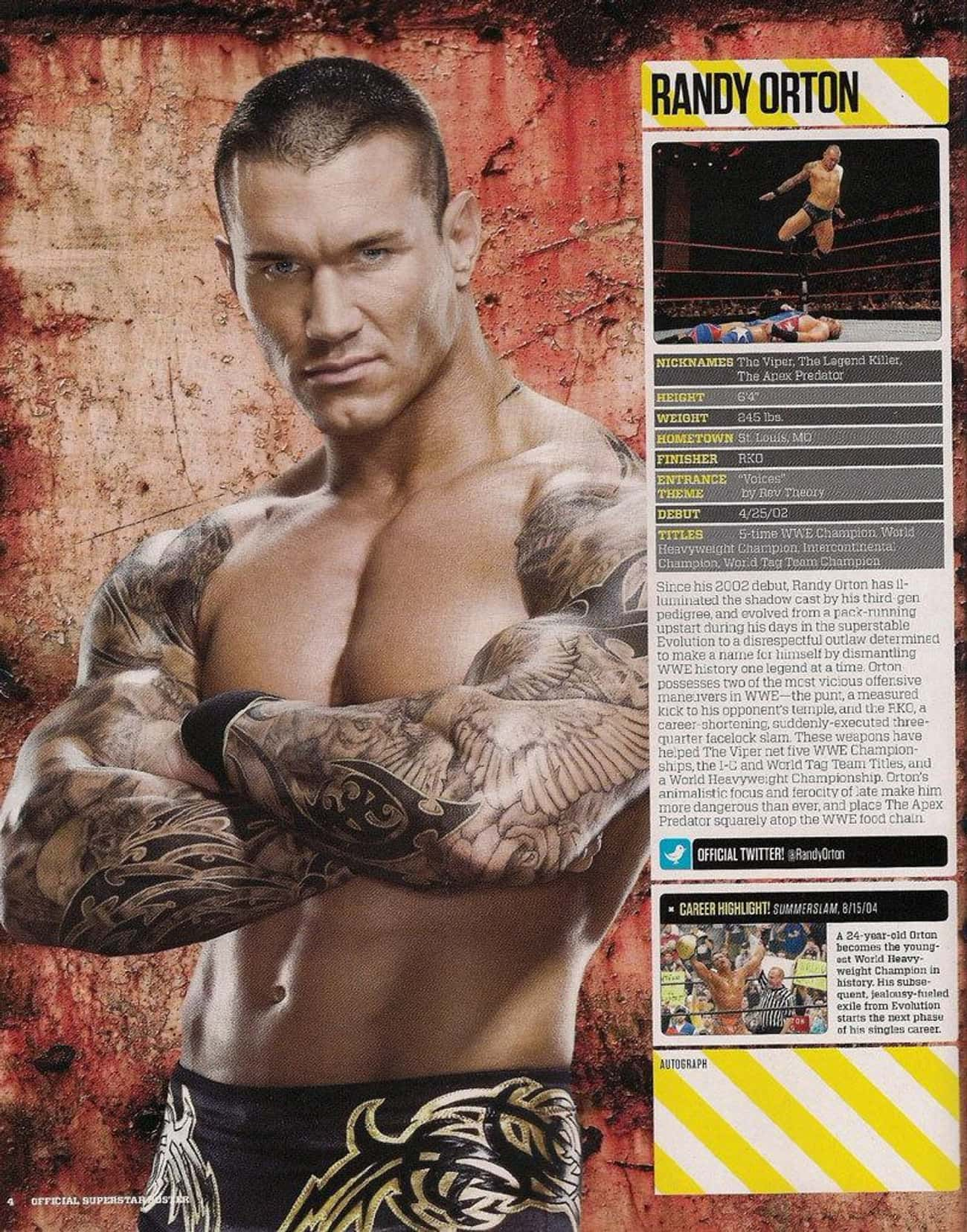 Wings Tattoo is listed (or ranked) 2 on the list Randy Orton Tattoos
