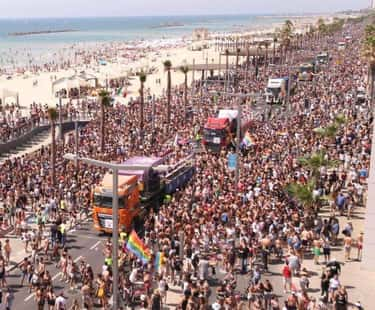 Tel Aviv Gay Pride Parade is listed (or ranked) 1 on the list The World's Best LGBTQ+ Pride Festivals