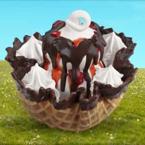 Dairy Queen Waffle Bowl Sundae is listed (or ranked) 6 on the list The Best Fast Food Desserts