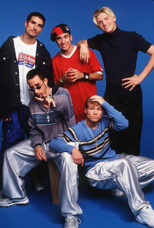 Nick's Outfit is listed (or ranked) 4 on the list 34 Cheesiest Boy Band Photos from the 90s