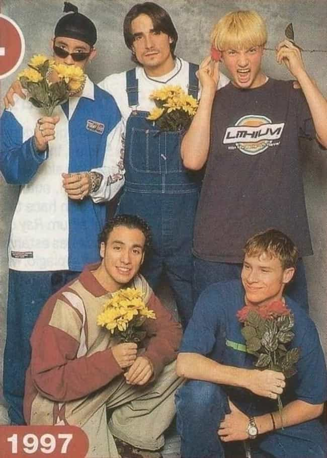 Flowers is listed (or ranked) 1 on the list 34 Cheesiest Boy Band Photos from the 90s