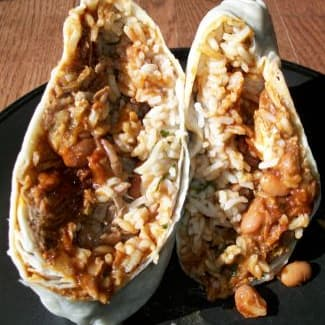Qdoba Pulled Pork Burrito on Random Best Fast Food Burritos