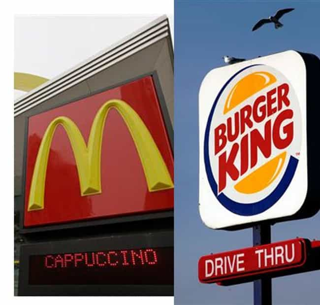 Burger King Vs. McDonald... is listed (or ranked) 4 on the list 30 Most Storied Corporate Rivalries