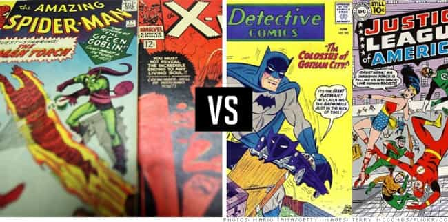DC Vs. Marvel is listed (or ranked) 2 on the list 30 Most Storied Corporate Rivalries