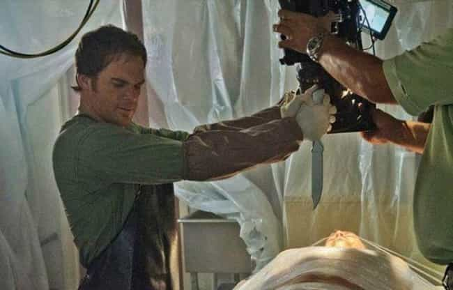 Filming a Dexter Kill is listed (or ranked) 4 on the list 50+ Amazing Behind the Scenes Photos from Iconic TV Shows