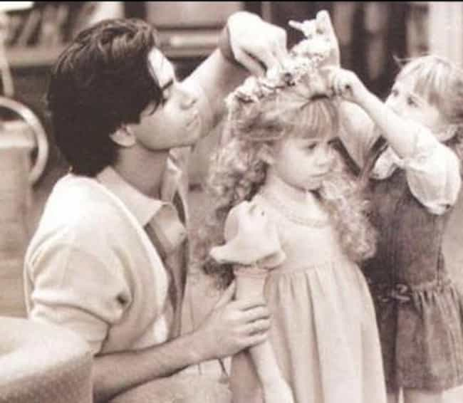 Helping Michelle Tanner ... is listed (or ranked) 1 on the list 50+ Amazing Behind the Scenes Photos from Iconic TV Shows