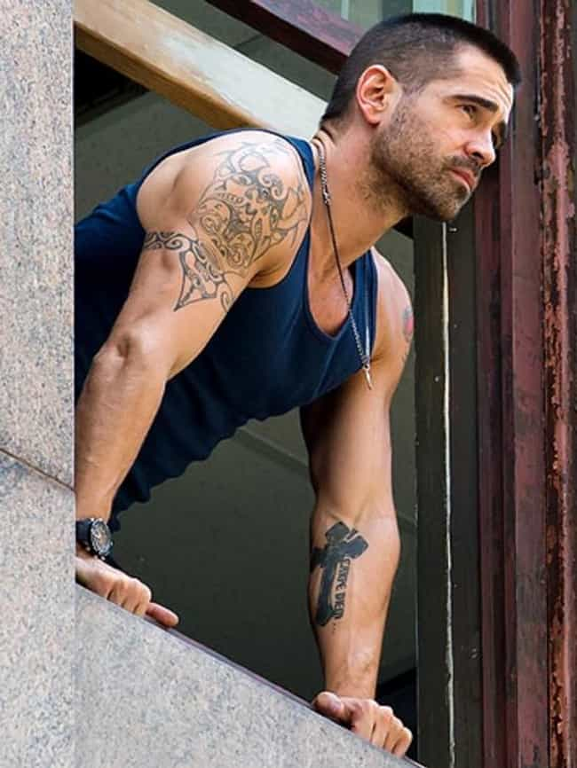 Carpe Diem and Cross is listed (or ranked) 2 on the list Colin Farrell Tattoos