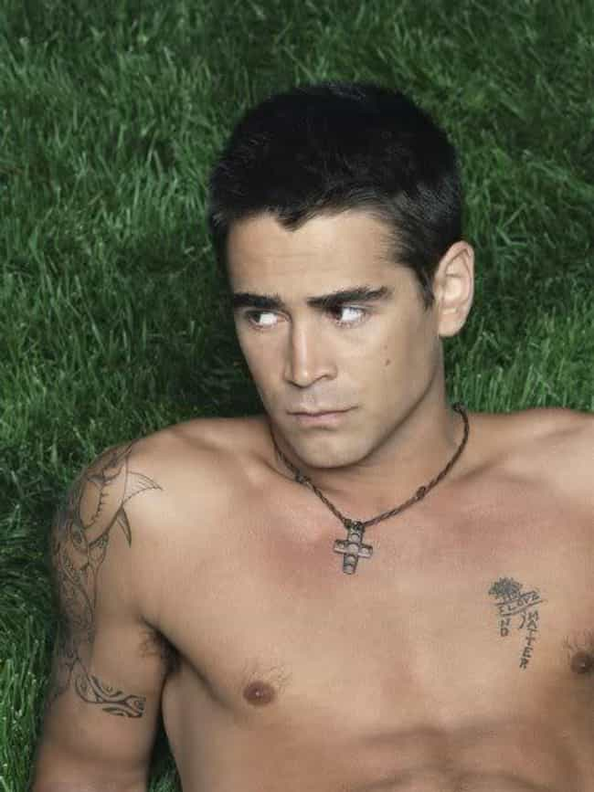 Lotus Flower and I Love ... is listed (or ranked) 4 on the list Colin Farrell Tattoos