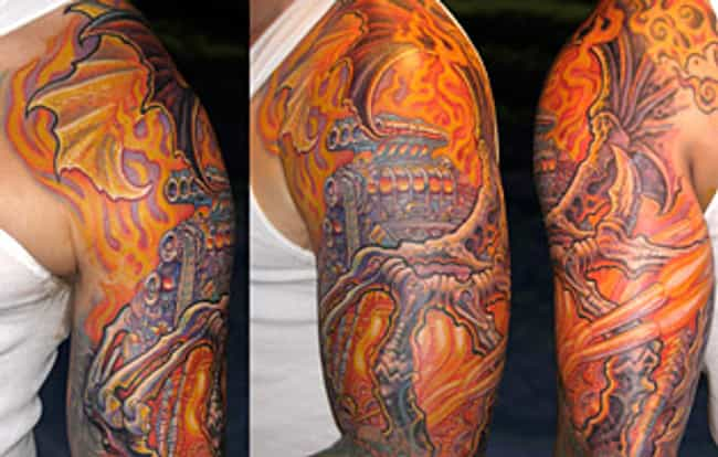 Dragon is listed (or ranked) 4 on the list Jesse James Tattoos