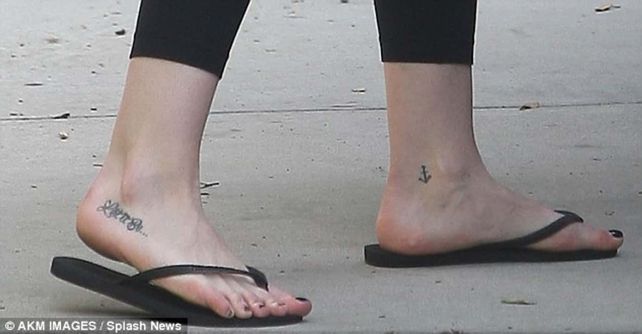Anchor is listed (or ranked) 3 on the list Hilary Duff Tattoos