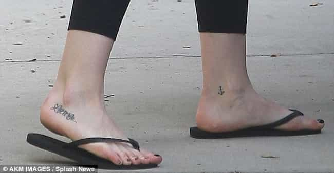 Anchor is listed (or ranked) 2 on the list Hilary Duff Tattoos