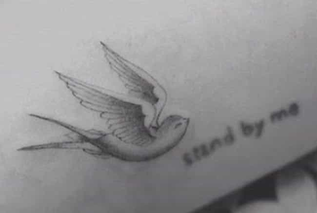 Bird is listed (or ranked) 1 on the list Hilary Duff Tattoos