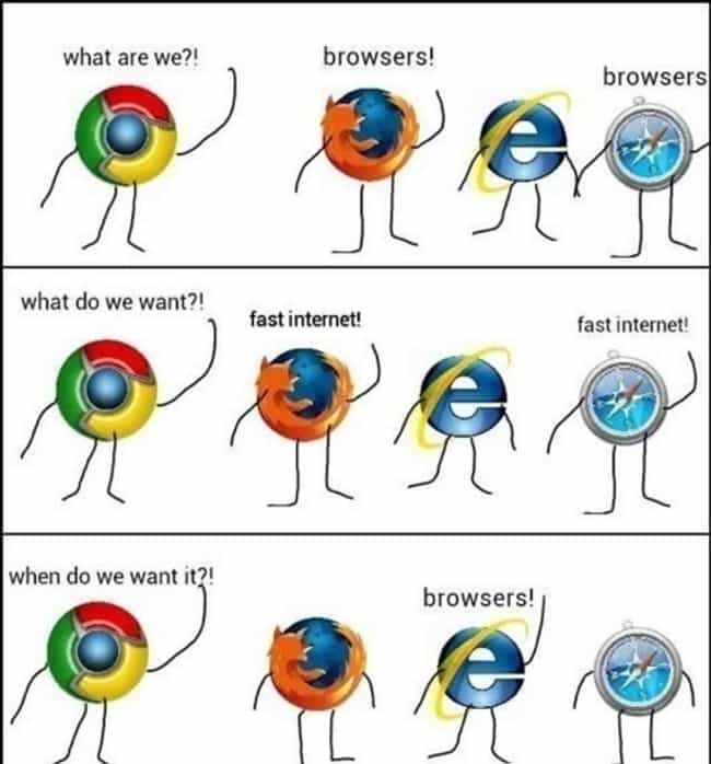 What Are We?! is listed (or ranked) 1 on the list The 20 Funniest Internet Explorer Jokes on the Internet