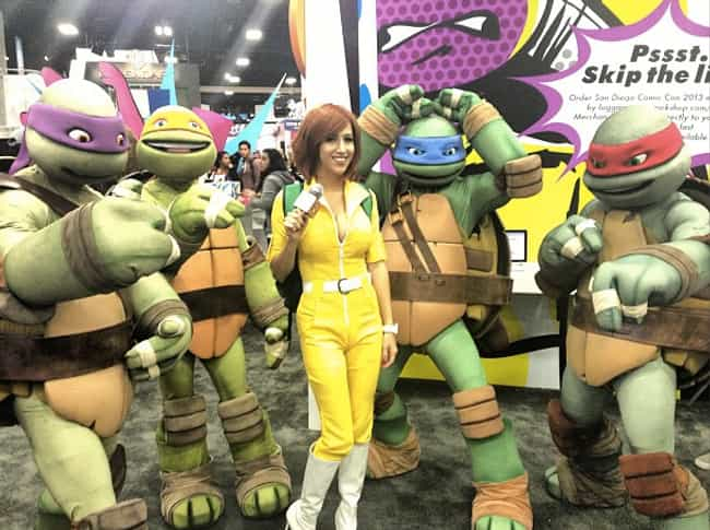 April O'Neil and the Nin... is listed (or ranked) 4 on the list The Very Best Costumes at Comic-Con 2013, RANKED