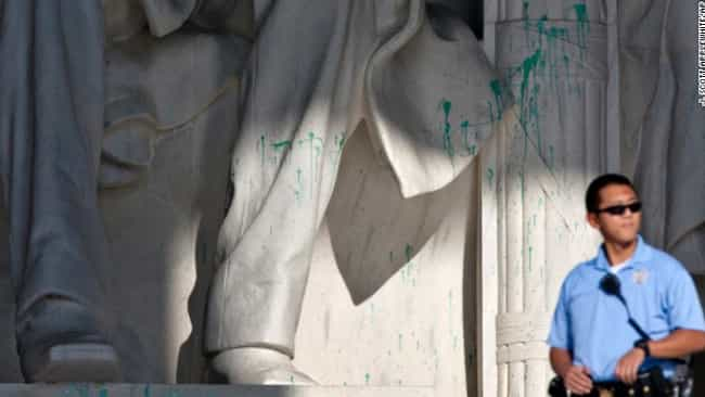 Lincoln Memorial Vandali... is listed (or ranked) 2 on the list The Top 12 Most Horribly Defaced Art Pieces of All Time