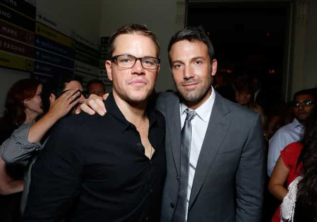 Matt Damon and Ben Affle... is listed (or ranked) 2 on the list Celebrities and Their BFFs