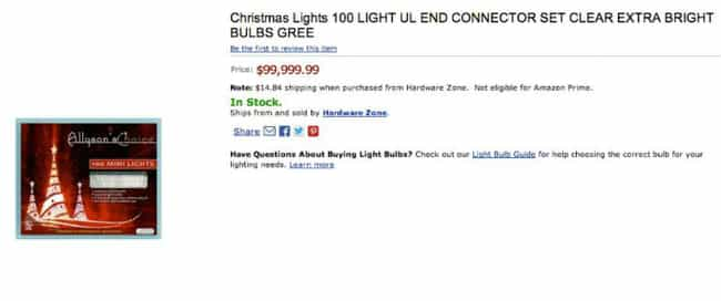 100 Mini Christmas Lights for ... is listed (or ranked) 1 on the list The Most Expensive Everyday Items You Can Find on Amazon