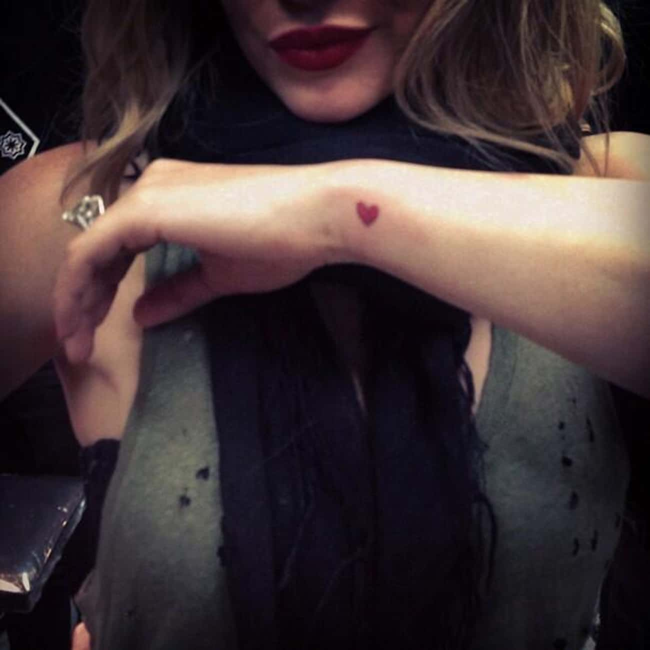 Heart is listed (or ranked) 4 on the list Hilary Duff Tattoos