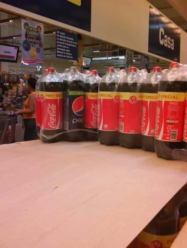 This Bottle of Cola is listed (or ranked) 28 on the list Infuriating Images That Will Trigger You