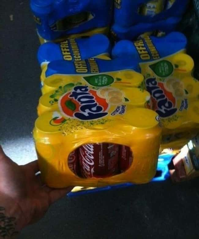 These Sodas is listed (or ranked) 37 on the list Infuriating Images That Will Trigger You