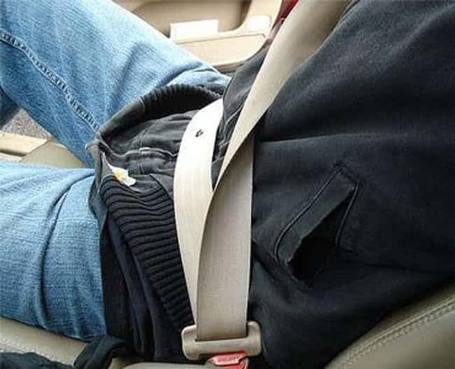 This Seatbelt is listed (or ranked) 22 on the list Infuriating Images That Will Trigger You