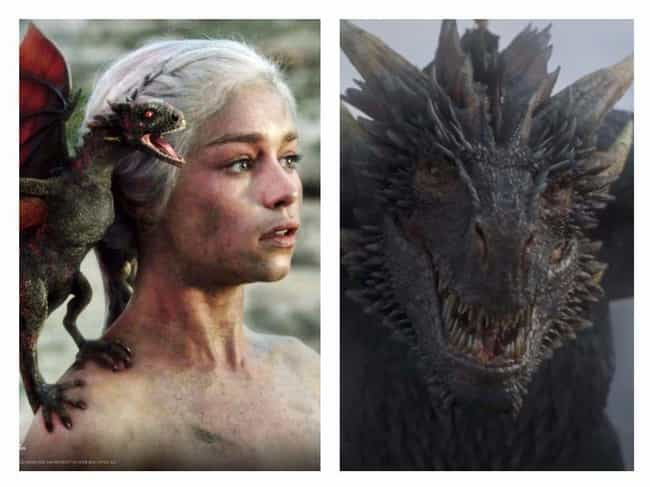 Drogon is listed (or ranked) 2 on the list Game Of Thrones Characters Then And Now