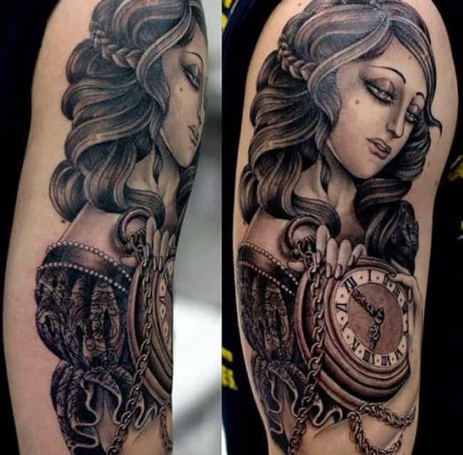 Portrait Half Sleeve Tat... is listed (or ranked) 3 on the list Half Sleeve Tattoos And Designs