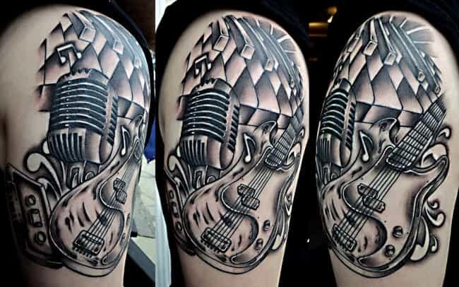Music Half Sleeve Tattoo... is listed (or ranked) 2 on the list Half Sleeve Tattoos And Designs