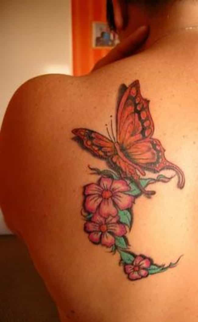 3210c81e4 Floral Butterfly Tattoos is listed (or ranked) 1 on the list Butterfly  Tattoos And