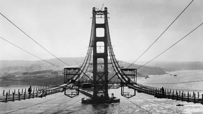 The Golden Gate Bridge Spannin... is listed (or ranked) 2 on the list The Construction of the Most Iconic Landmarks on Earth