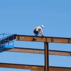 Structural Iron and Steel Work is listed (or ranked) 8 on the list The Most Dangerous Jobs in America