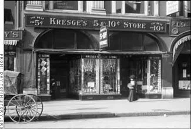 K-Mart (S.S. Kresge), 1899 is listed (or ranked) 1 on the list Amazing Early Photos of the World's Most Iconic Companies