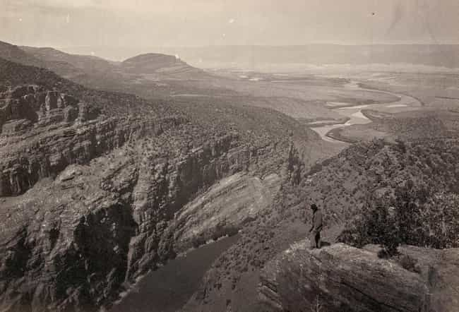 View From The Mountaintop In C... is listed (or ranked) 2 on the list Beautiful Old Photos Of Life In The Real Wild West