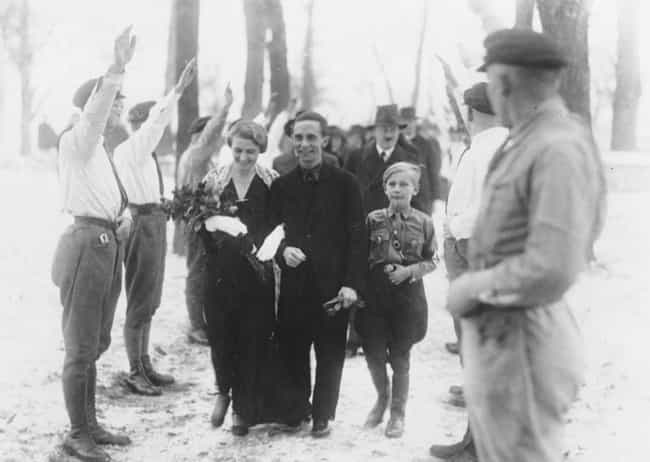 Joseph Goebbels Getting Marrie... is listed (or ranked) 8 on the list 15 Infuriating Photos of History's Most Evil People Having The Best Time Ever