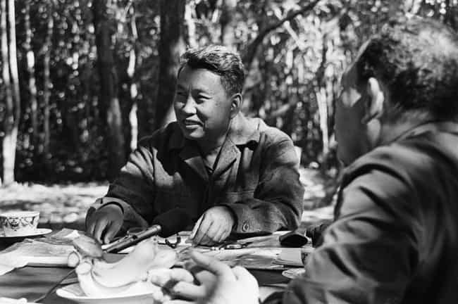 Pol Pot Enjoying Tea In The Ki... is listed (or ranked) 2 on the list 15 Infuriating Photos of History's Most Evil People Having The Best Time Ever