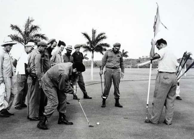 Fidel Castro Golfing