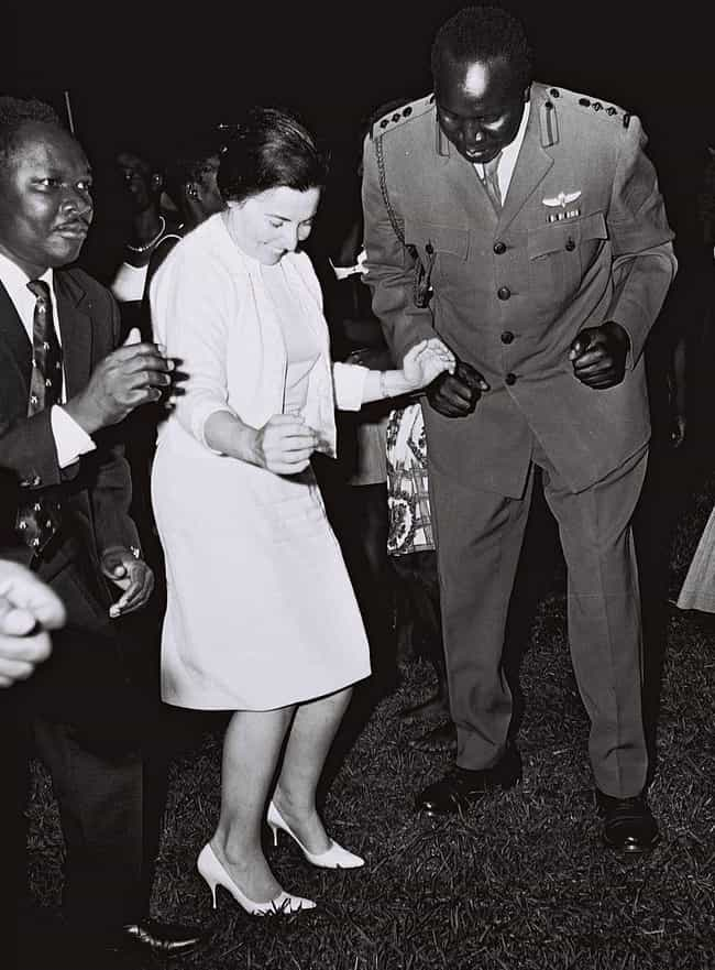 Idi Amin Dancing With Miriam E... is listed (or ranked) 4 on the list 15 Infuriating Photos of History's Most Evil People Having The Best Time Ever